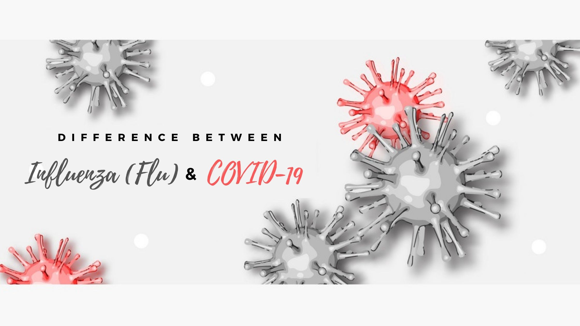 difference between Influenza (Flu) and COVID-19